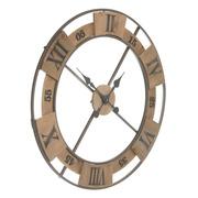 Reloj de Pared en Hierro y Madera Natural 4 x 70 x 70 cm