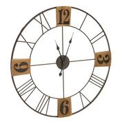 Reloj de Pared en Madera DM Natural 4 x 80 x 80 cm