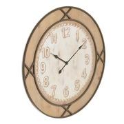 Reloj de Pared en Hierro y Madera 4 x 80 x 80 cm