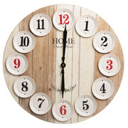Reloj de Pared en Metal y DM Natural 4,5 x 60 x 60 cm