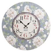 Reloj de Pared en Metal y DM Floral 4,3 x 58 x 58 cm