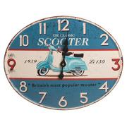 Reloj de Pared de Metal Azul 3,8 x 49 x 39 cm