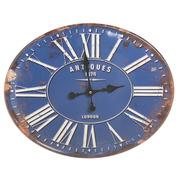 Reloj de Pared Vintage de Metal Azul 3,8 x 49 x 39 cm