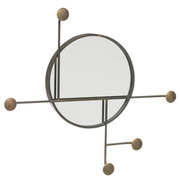 Espejo Toallero Industrial de Metal Bronce 7 x 71 x 65 cm
