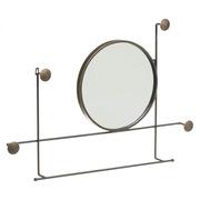 Espejo Toallero Industrial de Metal Bronce 8 x 84,5 x 58,5 cm