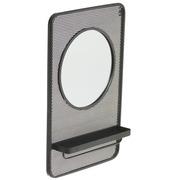 Espejo Estante Industrial de Hierro Negro 14 x 53 x 80 cm