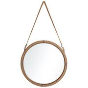 Espejo Industrial de Hierro y Yute Natural 5 x 60 x 60 cm