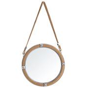 Espejo de hierro y Yute Natural 5 x 40 x 40 cm