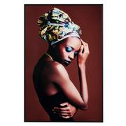 Cuadro Impresión Africana en Cristal 3,5 x 80 x 120 cm