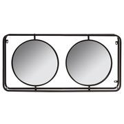 Espejo Industrial Doble de Hierro 10 x 93 x 45 cm