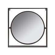 Espejo Industrial de Pared en Hierro 6 x 52 x 52 cm