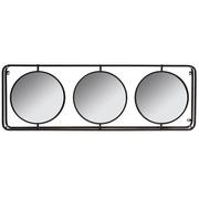 Espejo Triple de Hierro 10 x 131 x 45 cm