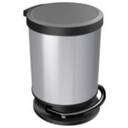 Papelera con Pedal de Resina y Lámina de Metal 20 litros