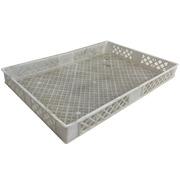 Caja de Plástico Blanca Seminueva 60 x 40 x 7 cm