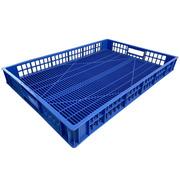 Caja de Plástico Rejillada Azul Seminueva 49,5 x 74,5 x 9,5 cm