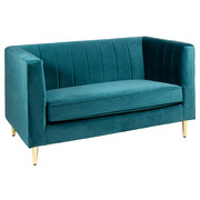 Sofá Velvet de Madera y Terciopelo Verde 75 x 127 x 77 cm