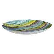 Centro de Mesa Decorativo de Cristal Azul Verde 50 x 50 x 6 cm