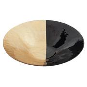 Cengtro de Mesa Decorativo en Cristal Oro Negro 40 x 40 x 9,3 cm