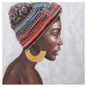 Cuadro Africana Impresión en Lienzo 3 x 80 x 80 cm