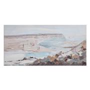 Pintura en Lienzo Playa Azul Crema 2,8 x 120 x 60 cm