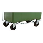 Pedal contenedor de basura de 4 ruedas de 1000 litros