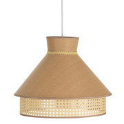Lámpara Techo de PVC y Tejido de Lino 40 x 40 x 31 cm