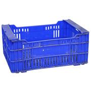 Caja de Plástico Rejillada Azul Usada 35,5 x 50 x 21,5 cm