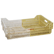 Caja Plástica Rejillada Bicolor Usada 40 x 60 x 15,5 cm