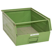 Gaveta de Metal Apilable Verde Usada 32 x 50 x 21 cm