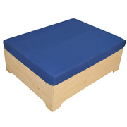 Pouf Industrial Box Con Cojín 80 x 100 x 39 cm