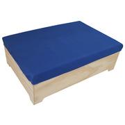 Pouf Industrial Box Con Cojín 80 x 120 x 39 cm