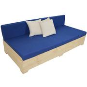 Sofa Box con Respaldo y Cojines Dralón 80 x 240 cm
