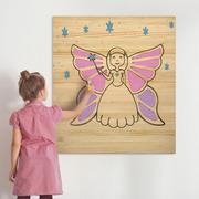 Cuadro Infantil para Pintar Hada 60 x 70 cm