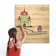 Cuadro Infantil para Pintar Castillo 60 x 70 cm