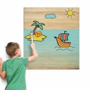 Cuadro Infantil para Pintar Barco 60 x 70 cm