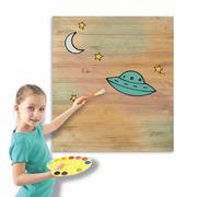 Cuadro Infantil para Pintar Ovni 60 x 70 cm