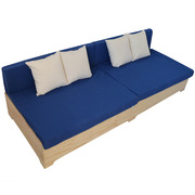 Sofa Industrial Box 80 x 240 con Respaldo