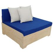 Sofa Box con Respaldo y Cojines Dralón 80 x 100 cm