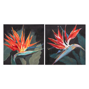 Pintura Flores Rojas en Lienzo 2,7 x 50 x 50 cm