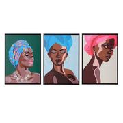 Cuadro Impresión Africana en Lienzo 4 x 50 x 70 cm