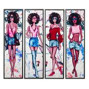 Cuadro Impresión Chicas Multicolor 2 x 34 x 120 cm