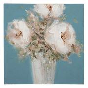 Pintura Jarrón con Flores en Lienzo 2,8 x 50 x 50 cm