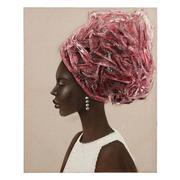 Pintura Africana en Lienzo 2,8 x 80 x 100 cm