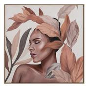 Cuadro Africana Impresión en Lienzo 4 x 100 x 100 cm