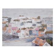 Pintura Casas en Lienzo 2,8 x 120 x 90 cm