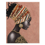 Pintura Africana en Lienzo de Madera 2,8 x 80 x 100 cm