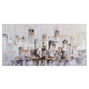 Cuadro Oleo Sobre Lienzo Ciudad 4 x 140 x 70 cm