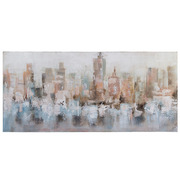 Cuadro Oleo Sobre Lienzo Urbano 4 x 150 x 70 cm