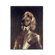 Cuadro Perro Caballero en Lienzo 2,5 x 75 x 100 cm