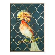 Cuadro Ave de Colores Impreso en Lienzo 4 x 100 x 140 cm